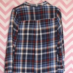 Francesca's Collections Tops - Alya Flannel Hi-Low Tunic Size S